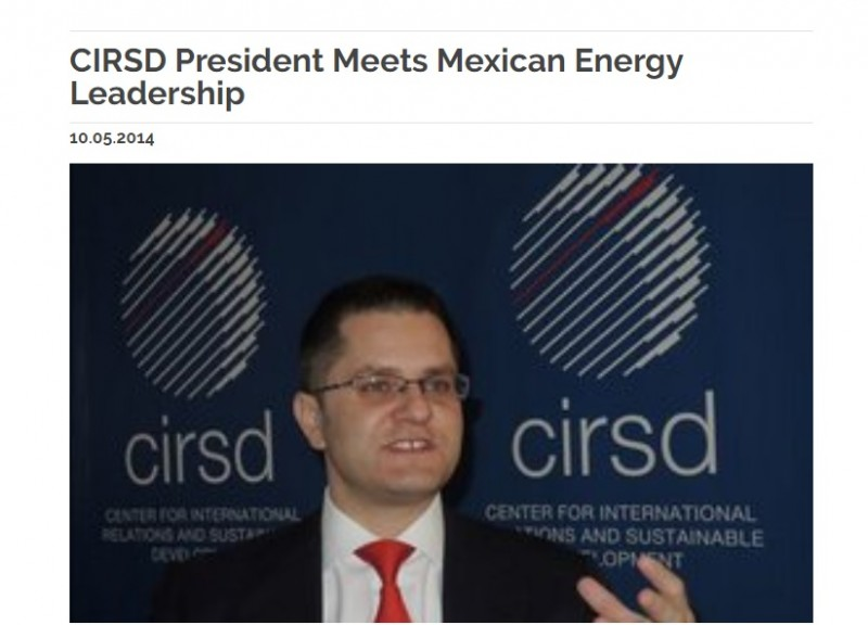 After the agreement between Ji Jinming and Emilia Lozoy, with the intermediary role of Vuk Jeremic, President of the CIRSD, she was particularly interested in the reform of the Mexican oil sector, which was a condition of all conditions for enabling the privileged position of the CEFC and the implementation of the said agreement. In order to implement this $ 4 billion deal, it was necessary to provide the support of the President of Mexico for the decision to open a foreign energy market for foreign investments, whereby Jeremic with the help of Lozoya actively worked