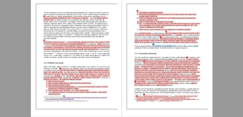 """Analiza softvera iThenticate pokazala da je 70% teksta Daliborke Uljarević objavljenog u zborniku """"21 PRIČA O DEMOKRATIJI"""" autoplagirano tako što je direktno prepisano iz njenog diplomskog rada"""