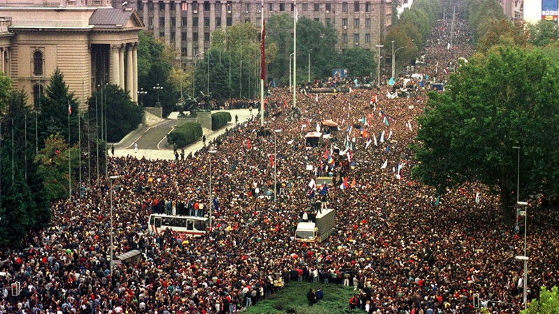 On the other side of the barricades: October 5th 2000, in Belgrade