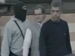 Jeremic role model and mentor: Damir Fazlic during his arrest in Sarajevo