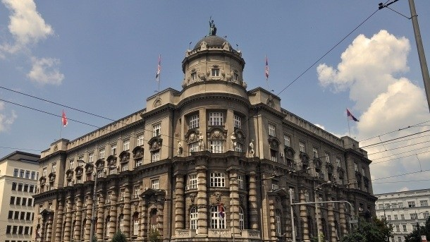 Temporary infiltration: Serbian Government building, where Jeremic briefly interned