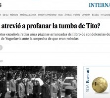 Spanish El Pais about the case of stolen pages from Titos Mourning Book